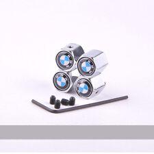 Chrome 4 Pcs Car Wheel Airtight Tyre Tire Stem Wrench Air Valve Caps For BMW