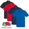 Fruit Of The Loom MEN'S POLO SHIRT WICKING SPORTS GOLF TENNIS QUICK DRY S-3XL
