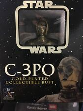 STAR WARS C-3PO GOLD PLATED COLLECTIBLE BUST #0431/8000