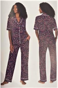 Womens DKNY Notch collar and Pant Pyjama set, Lounge Set, 2 Piece, Medium