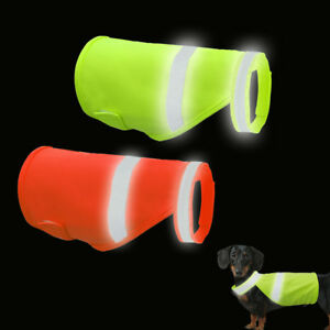 High Visibility Dog Safety Vest Clothes Puppy Reflective Breathable Jacket Coat