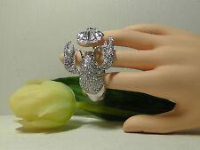 Alexis Bittar Silver Crystal Encrusted Lobster Cuff Bracelet. *****NEW*****
