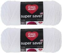 Red Heart Super Saver Yarn 2 Pack - White- 7 oz each skein