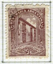 ARGENTINA;   1926 early Postal Centenary issue used 25c. value