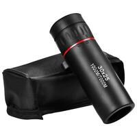 Mini Portable Zoom Scope 30x25 Handheld Monocular Telescope for Travel Hunting