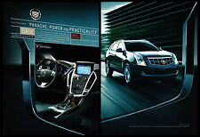 Cadillac SRX Crossover 2-page print ad 2010 Panache Power and Practicality