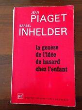 L56> > Le genèse de l'idèè de hasard chez l'enfant - 1974