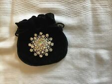 costume jewellery.Snowflake Brooch. Width 5cms.