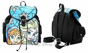 Disney Frozen Elsa & Princess Anna Stained Glass Backpack Sinch Slouch Book Bag