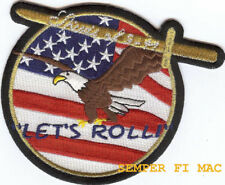 LETS ROLL SPIRIT OF 9 11 NY PATCH US ARMY MARINES NAVY AIR FORCE PENTAGON PA