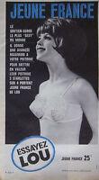 PUBLICITÉ DE PRESSE 1964 SOUTIEN-GORGE LOU JEUNE FRANCE - ADVERTISING