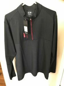New With Tags- Adidas Men's Large Mixed Media5p 1/4 Zip Pullover