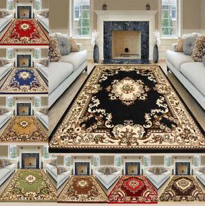 Luxury Non Slip Traditional Rugs Bedroom Living Room Rug Hallway Runner Mat Uk