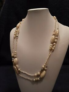 Double strand necklace beaded necklace