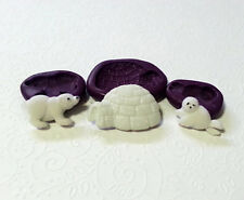Silicone Molds Arctic Theme Set (27-39mm) Polar Bear Seal Igloo Cake Topper