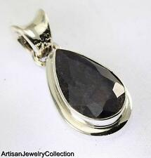 Silver Artisan Jewelry Collection Y159B Blue Sapphire Pendant 925 Sterling