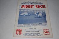 Midget Car Auto Racing Program, Gardena Stadium, California, April 25 1959