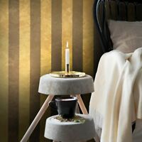 Wall coverings rolls  Wallpaper Gold Bronze Metallic Textured Striped Modern 3D