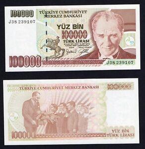 Turchia 100000 turk lirasi 1997 FDS-/UNC-  A-07