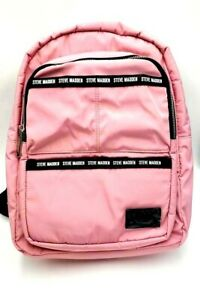 STEVE MADDEN Women's Backpack with Pouch Pink Birch Black Straps LUXYRY NEW