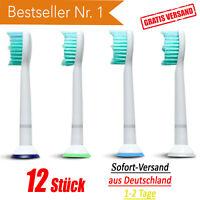 ▀ 12 Stück Ersatzbürsten für Philips Sonicare Aufsteckbürsten Bürstenköpfe 12x ▀