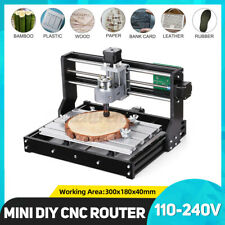 3018 Pro 3 Axis Mini Diy Cnc Router Adjustable Spindle Motor Wood Engraving