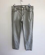 Jessica Simpson Women's Rolled Crop Skinny Jeans Size 10/30 Grey Green Denim