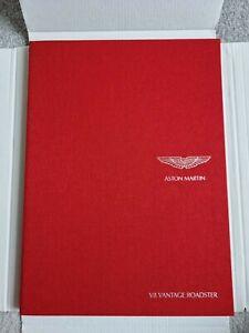 Aston Martin V8 Vantage Roadster UK Market Hardback Brochure 2009-2010 66 Pages