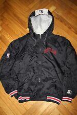 Starter Vtg 1990s Chicago Bulls NBA Puffer Hooded Jacket Size Large