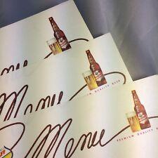 3 Falstaff Beer Advertising Menu Blanks Vintage Original