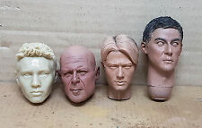 1/6 Unpainted ASIA Head Sculpt Bruce Willis IP man Jet Li VTS ZCWO LOKI Hot Toys