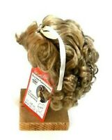 """Doll wig, artificial hair 11"""" to 11.5"""" blond, French style cut with curls"""