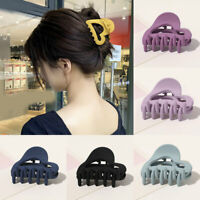 Hair Accessories Frosted Barrette Matte Love Hollow Hair Claw Acrylic Hair Clip√