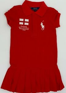 New  Girls  Ralph Lauren Cotton Cotton Polo Dress 7 Years