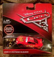 1:55 Disney Pixar Cars 3 Lightning McQueen & with  Piston Cup Trophy Mattel