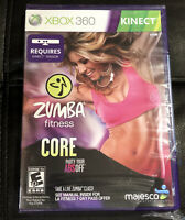 NEW Xbox 360 Kinect Zumba Fitness Core SEALED (but Has Partially Torn Seal)