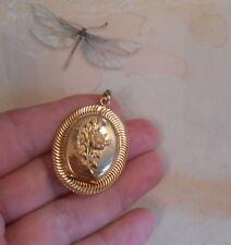 Joli pendentif porte photo ancien Napoléon III pl. or jaune