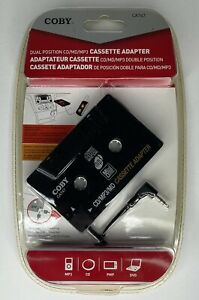 COBY CD/MP3/MD Portable Cassette Adapter_CA747_Detachable 2-Sided Plug_New