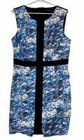 Portmans Womens Black/Blue Sleeveless A-Line Dress Size 14