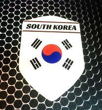 "South Korea 대한민국 Proud Shield FLAG Domed Decal Emblem Car Sticker 3D 2.3""x 3.3"""
