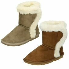 Girls Spot On Fur Trim 'Ankle Boots'
