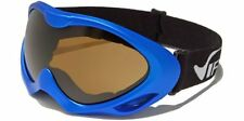 New Snowmobile Ski Virage 100% UV400 Goggles Blue Frame & Brown Smoke Lenses