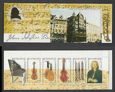 XG-W400 BELGIUM - Music, 2000 Musical Instruments, J. S. Bach MNH Booklet