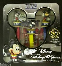 MICKEY MOUSE PEZ Collectibles Disney Celebrates 80 Years #d Sealed New in Tin