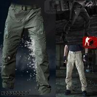 Men Tactical Pants Combat QuickDry Lightweight Waterproof Nylon Cargo Hiking IX9