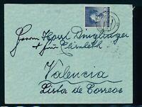 BERLIN 1952, Mi. 87 Brief, portorichtige EF auf Auslandsbrief!! Mi. 110,--!