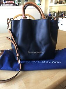 Dooney City Barlow Black Smooth Leather Shopper Tote Dustbag
