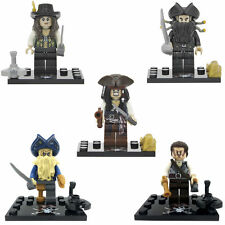 5 pcs Pirates of the Caribbean Davy Jones, Angelica, Jack Sparrow Custom Lego