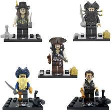 5 pcs Pirates of the Caribbean Davy Jones, Angelica, Jack Sparrow Custom Lego