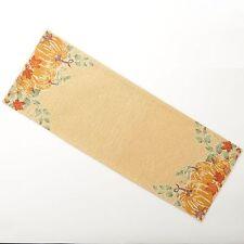 Nwt Harvest Season Pumpkin Tapestry Table Runner 13'' x 36'' Rv $24.99